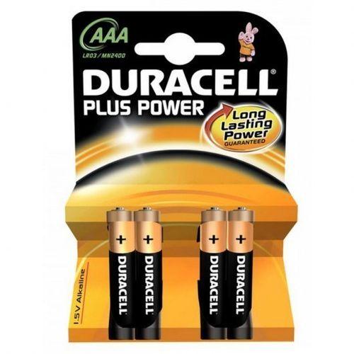 PILA AAA DURACELL PLUS POWER 4UNIDADES